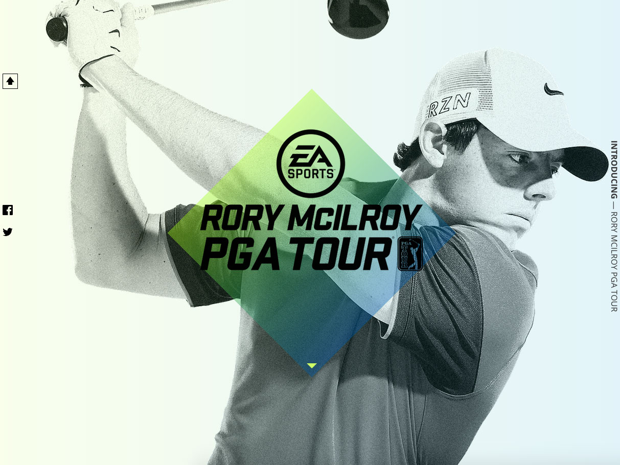 First tile for Rory McIlroy reveal page